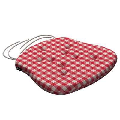 Siedzisko Filip na krzesło 136-16 czerwono biała kratka (1,5x1,5cm) Kolekcja Quadro