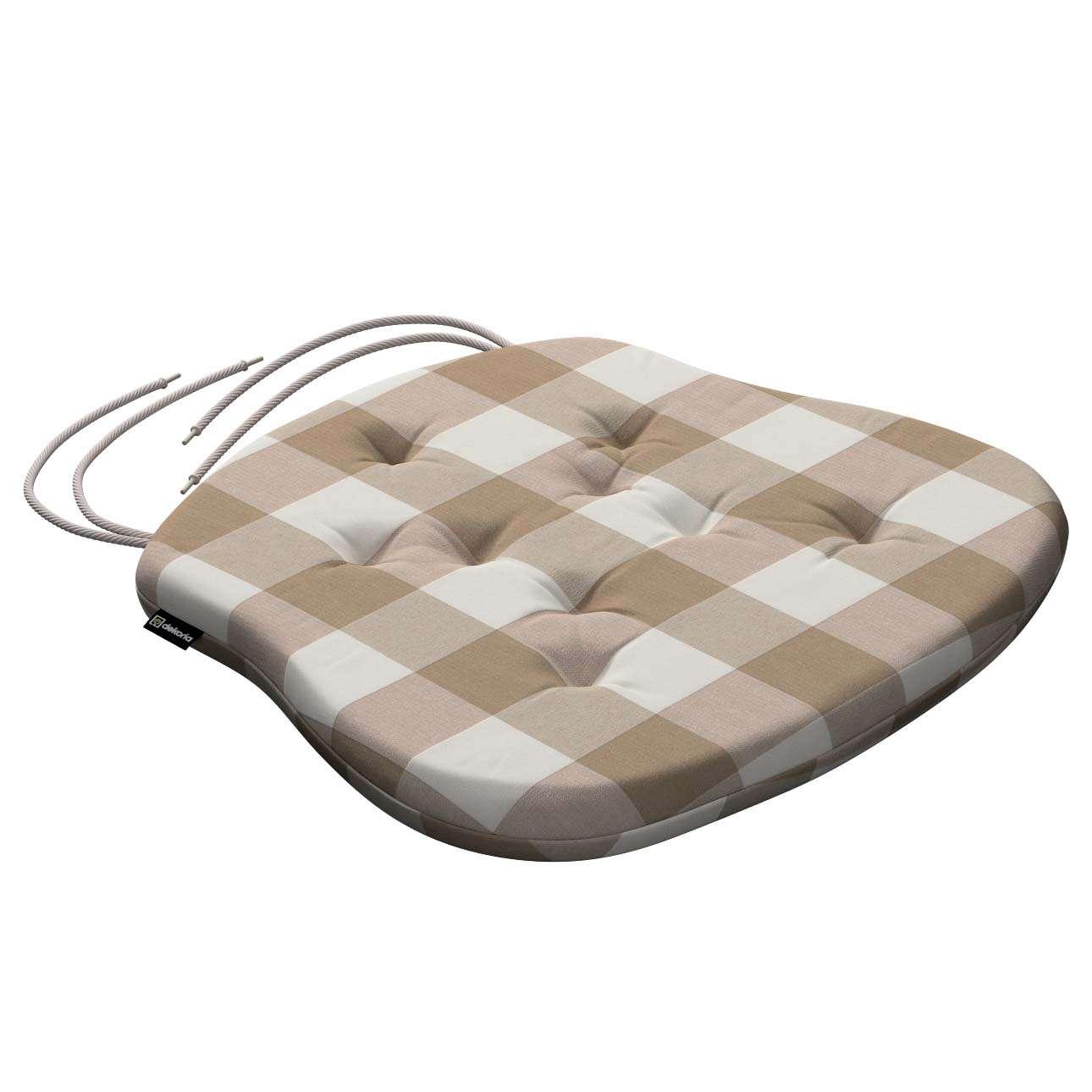 Siedzisko Filip na krzesło 41x38x3,5 cm w kolekcji Quadro, tkanina: 136-08