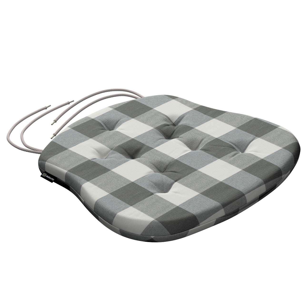 Siedzisko Filip na krzesło 41x38x3,5 cm w kolekcji Quadro, tkanina: 136-13