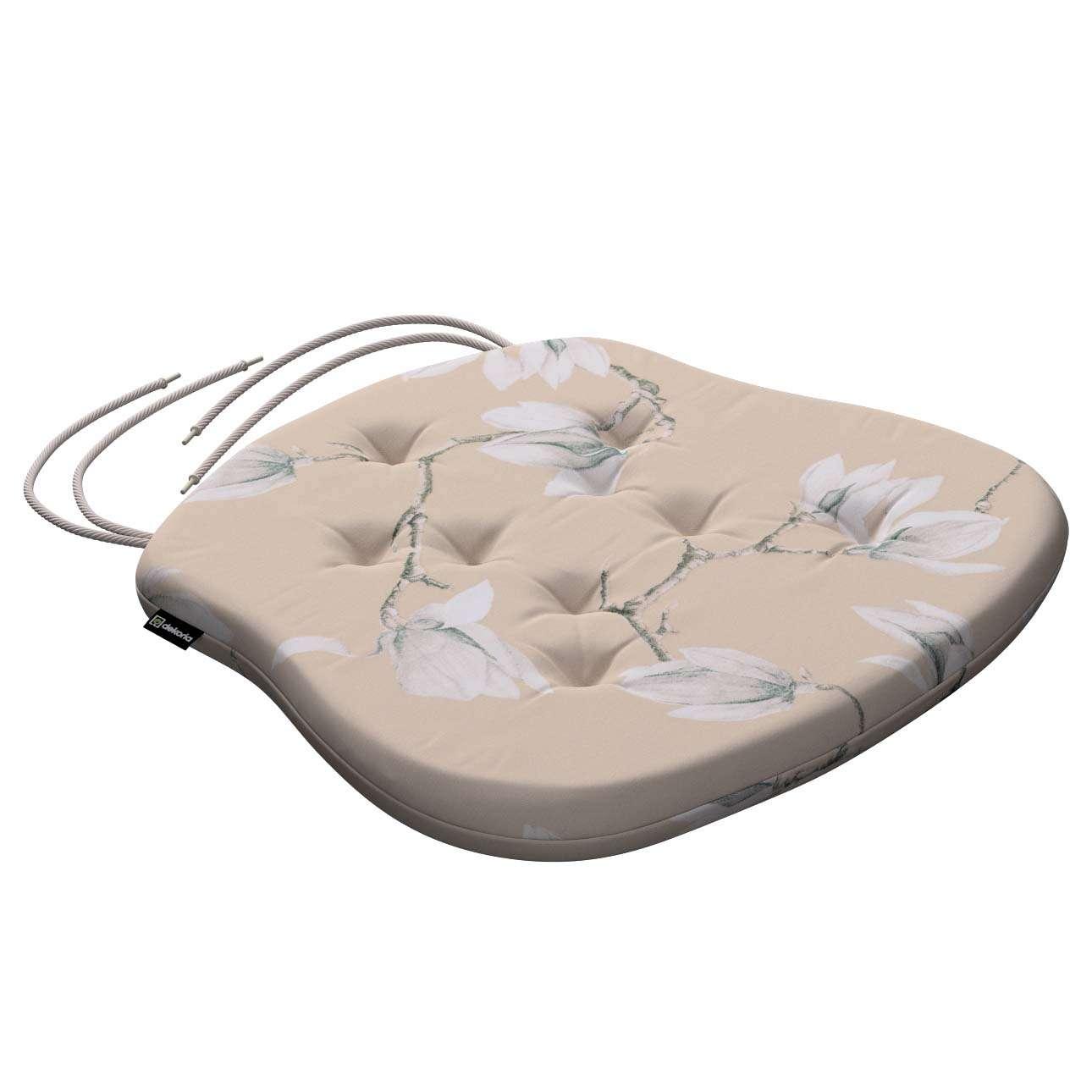 Siedzisko Filip na krzesło 41x38x3,5 cm w kolekcji Flowers, tkanina: 311-12