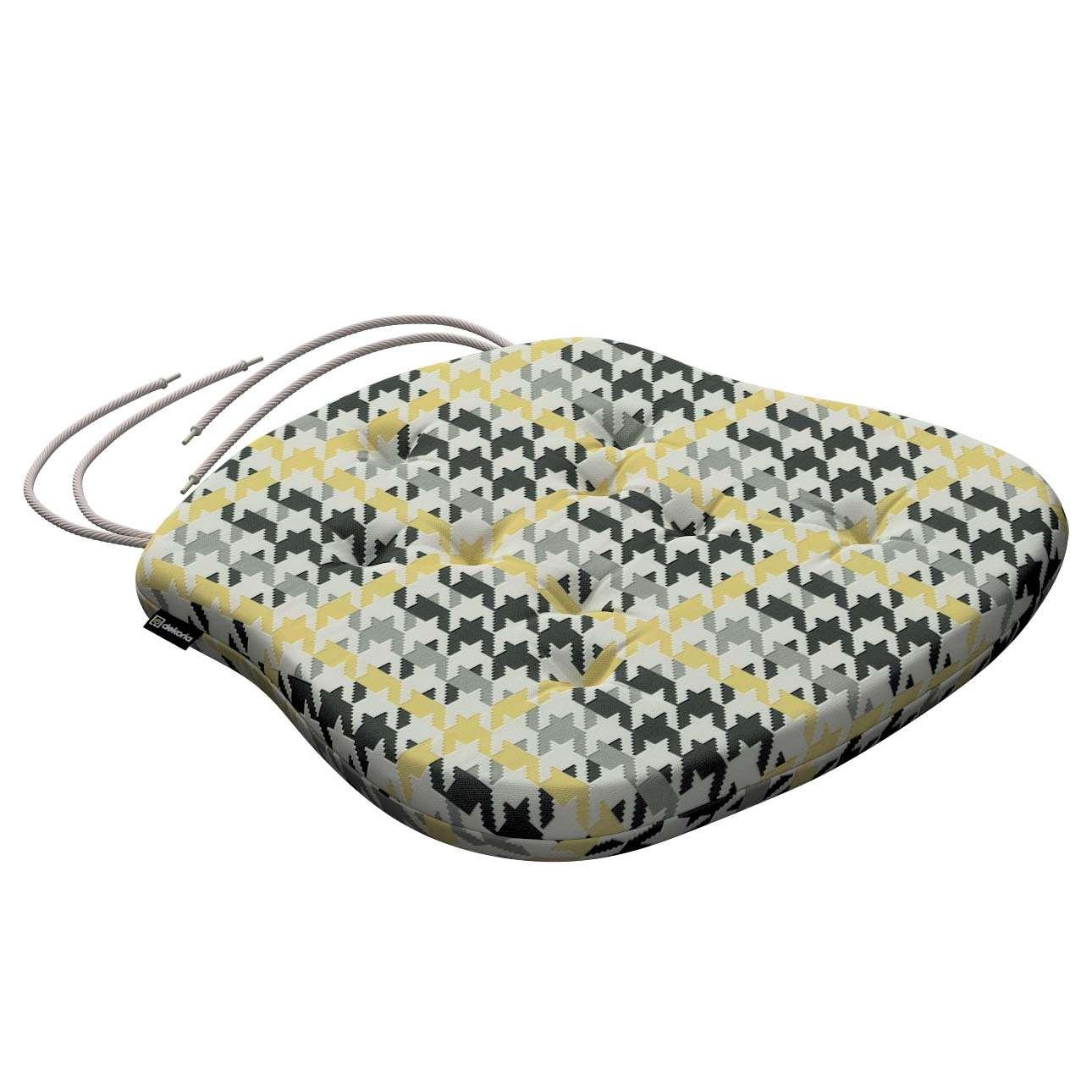 Siedzisko Filip na krzesło 41x38x3,5 cm w kolekcji Brooklyn, tkanina: 137-79