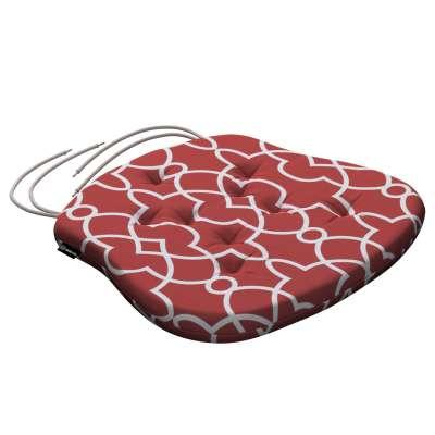 Siedzisko Filip na krzesło 142-21 czerwony w biały marokański wzór Kolekcja Gardenia