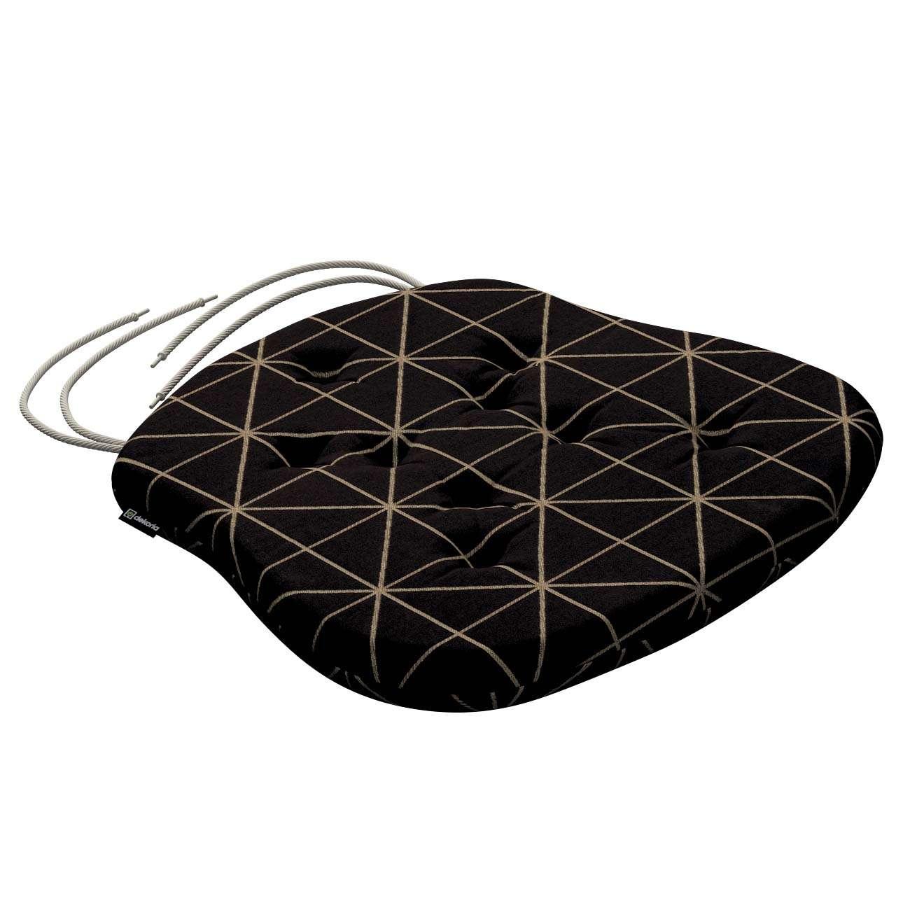 Siedzisko Filip na krzesło w kolekcji Black & White, tkanina: 142-55