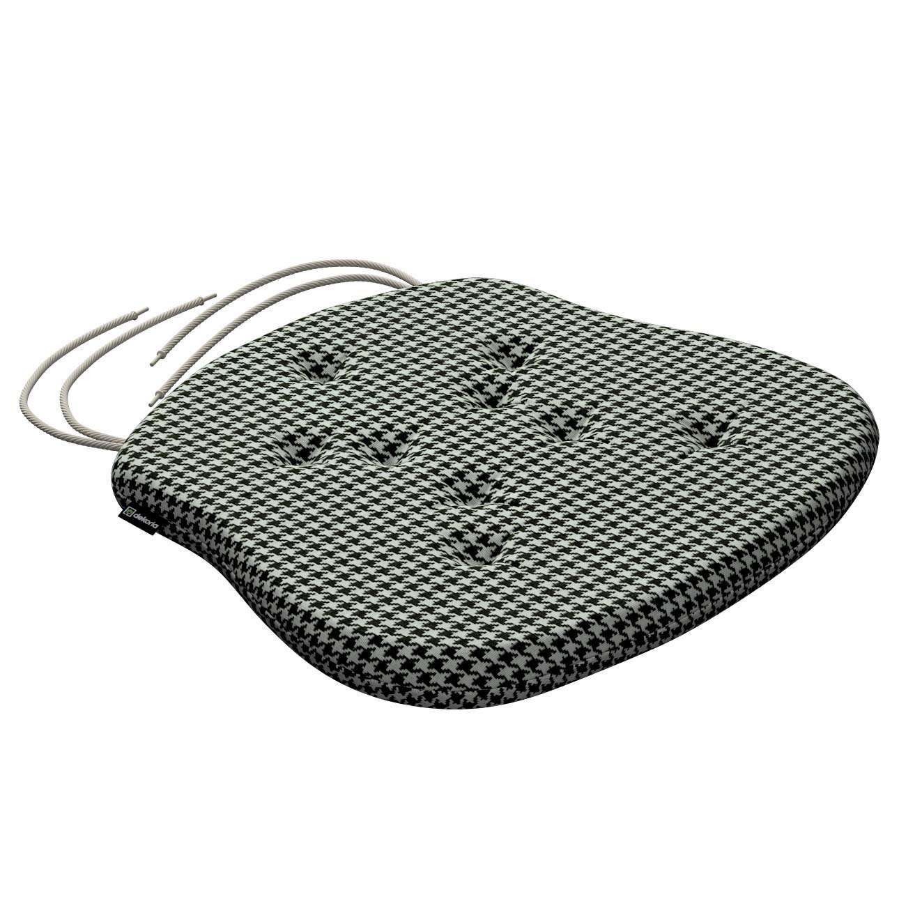 Siedzisko Filip na krzesło w kolekcji Black & White, tkanina: 142-77