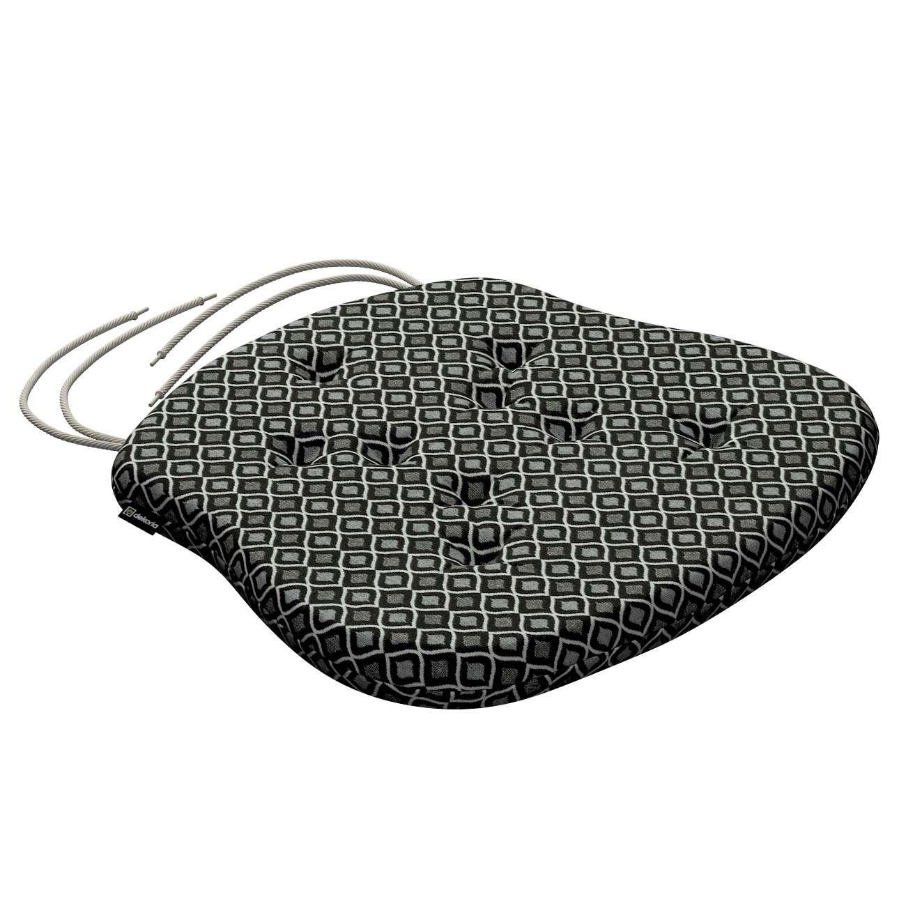 Siedzisko Filip na krzesło w kolekcji Black & White, tkanina: 142-86