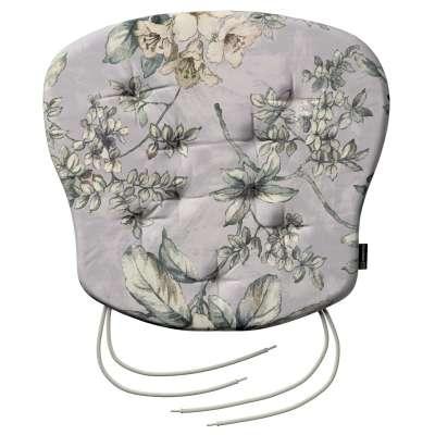 Sedák Filip 41x38x3,5cm 143-36 olivovo-béžové květy na šedém podkladu Kolekce Londres