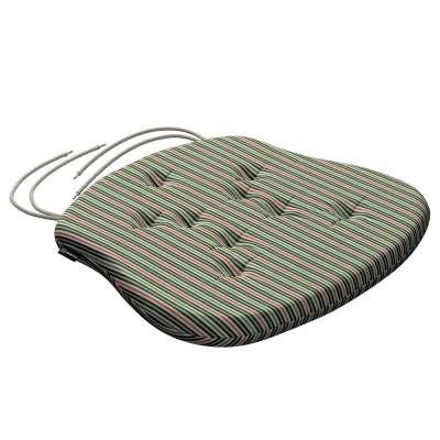 Siedzisko Filip na krzesło 143-42 pasy w odcieniach zieleni i czerwieni Kolekcja Londres