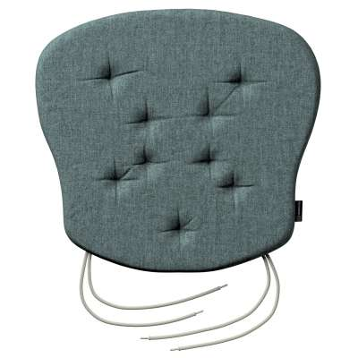 Philip seat pad with ties 704-85 gray blue chenille Collection City