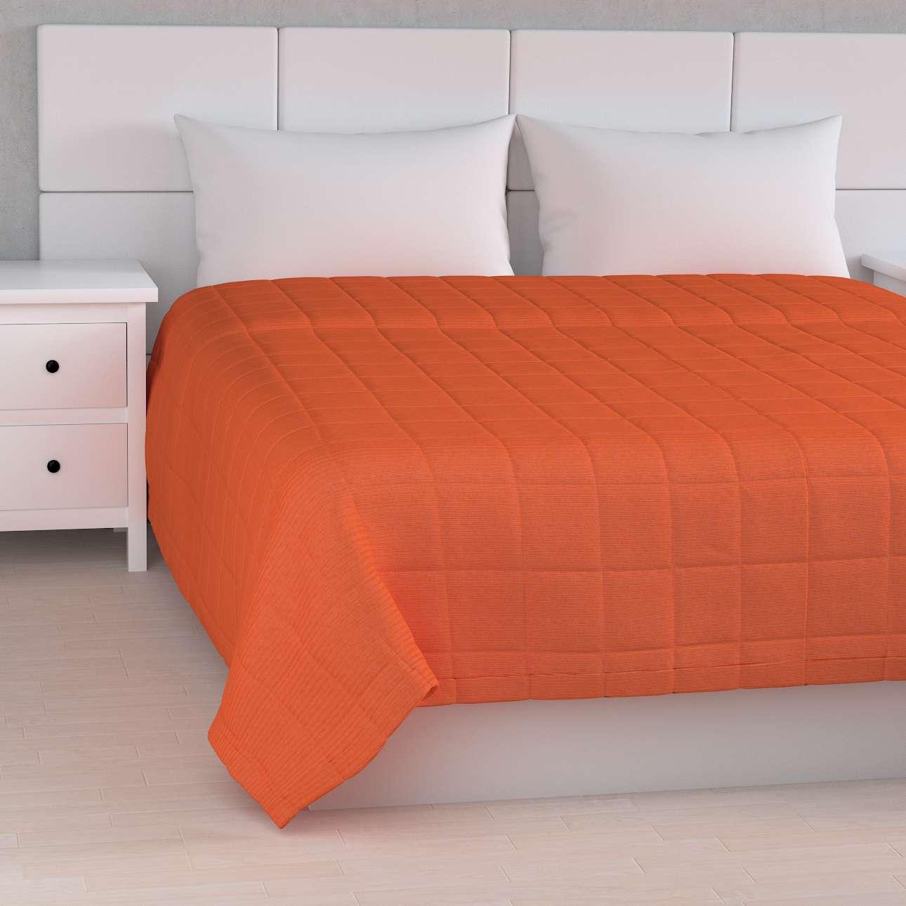 Tagesdecke mit Karosteppung, orange, 260 × 210 cm, Jupiter | Heimtextilien > Decken und Kissen | Dekoria