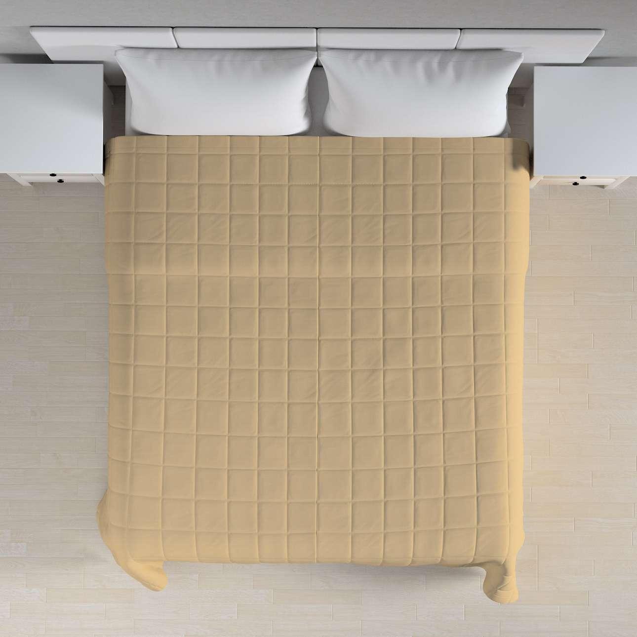 Narzuta pikowana w kratę szer.260 x dł.210 cm w kolekcji Cotton Panama, tkanina: 702-01