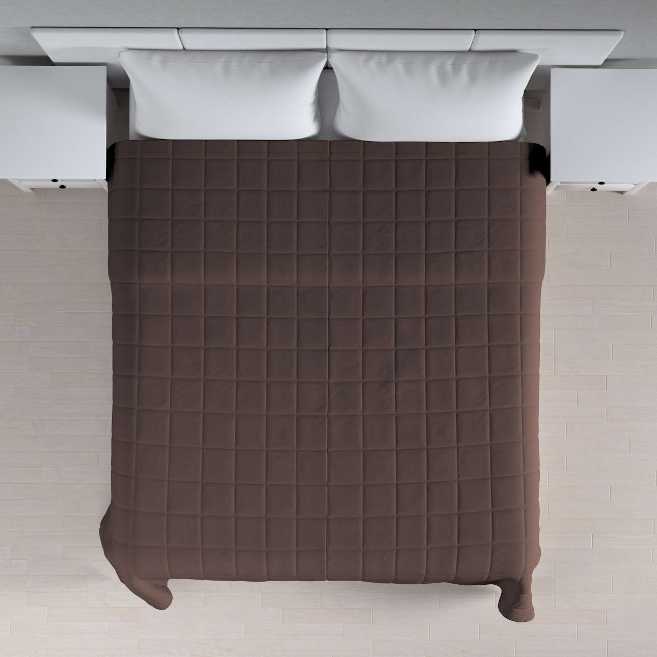 Lovatiesės (kvadratėliais dygsniuotos) 260 x 210 cm kolekcijoje Cotton Panama, audinys: 702-03
