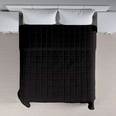 Tagesdecke mit Karosteppung 702-09 schwarz Kollektion Cotton Panama
