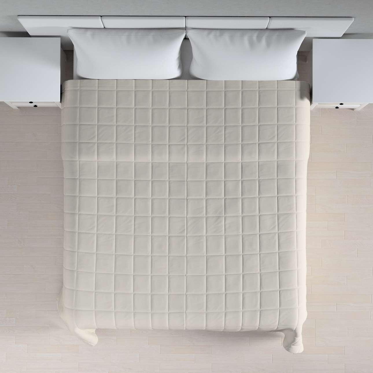 Narzuta pikowana w kratę szer.260 x dł.210 cm w kolekcji Cotton Panama, tkanina: 702-31