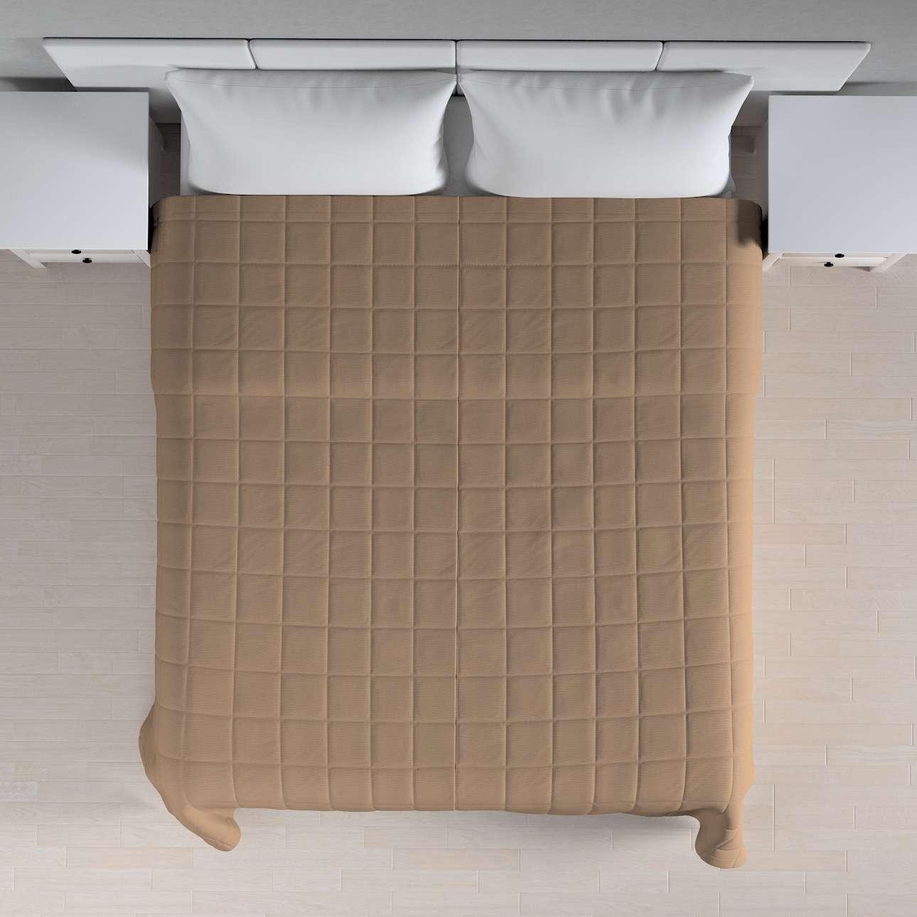 Einfacher Überwurf mit Karosteppung 260 x 210 cm von der Kollektion Quadro, Stoff: 136-09