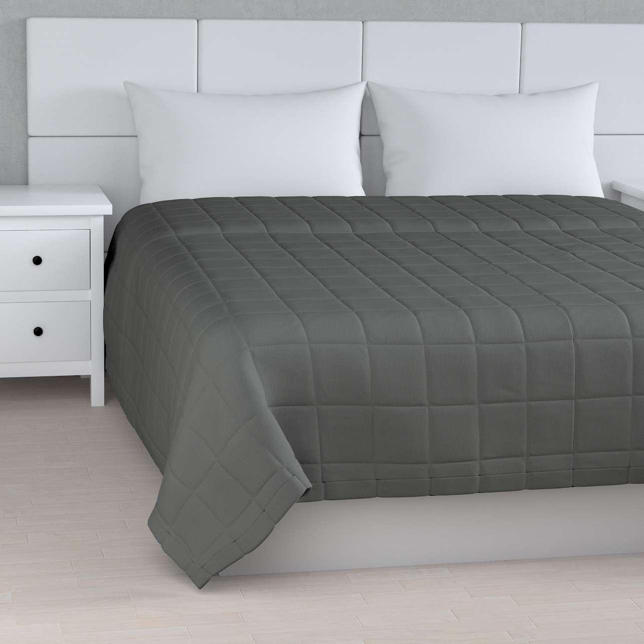 Tagesdecke mit Karosteppung, grau, 260 × 210 cm, Quadro | Heimtextilien > Decken und Kissen > Tagesdecken und Bettüberwürfe | Dekoria