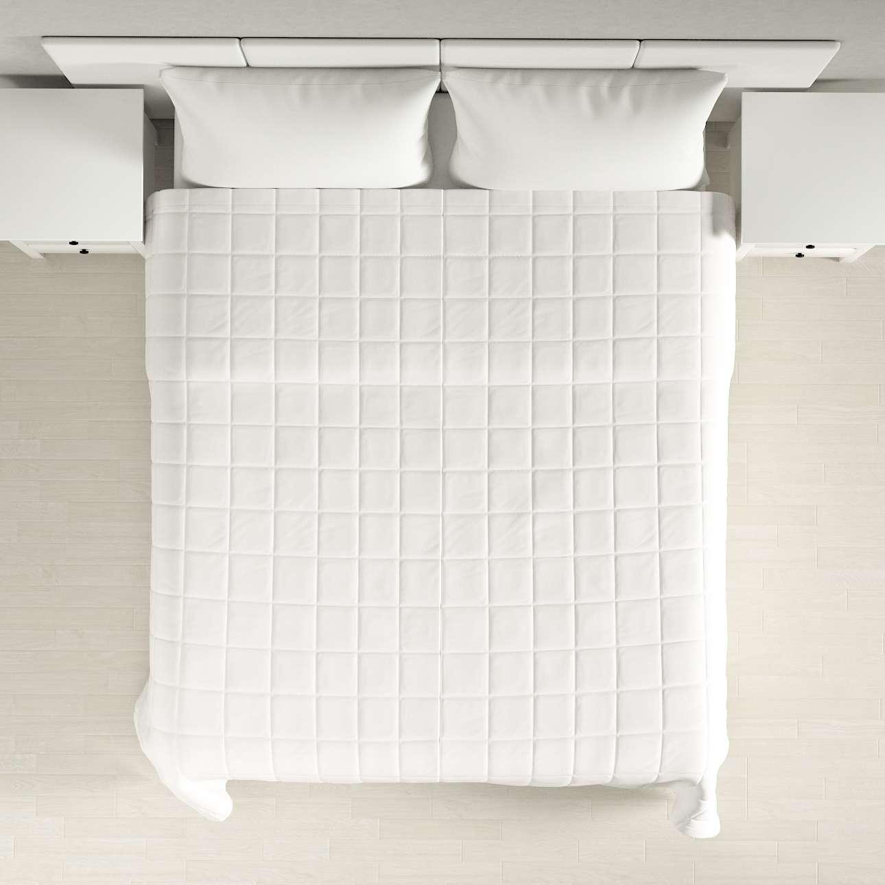 Narzuta pikowana w kratę w kolekcji Cotton Panama, tkanina: 702-34