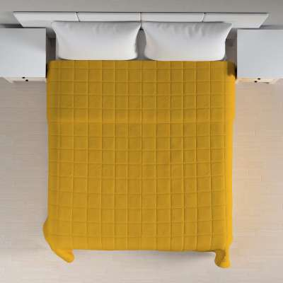 Check quilted throw 705-04 mustard Collection Etna