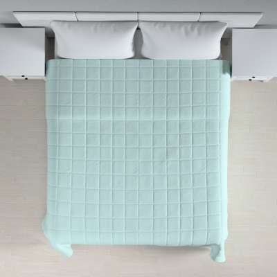 Sengetæppe quiltet<br/>10x10cm tern fra kollektionen Cotton Panama, Stof: 702-10