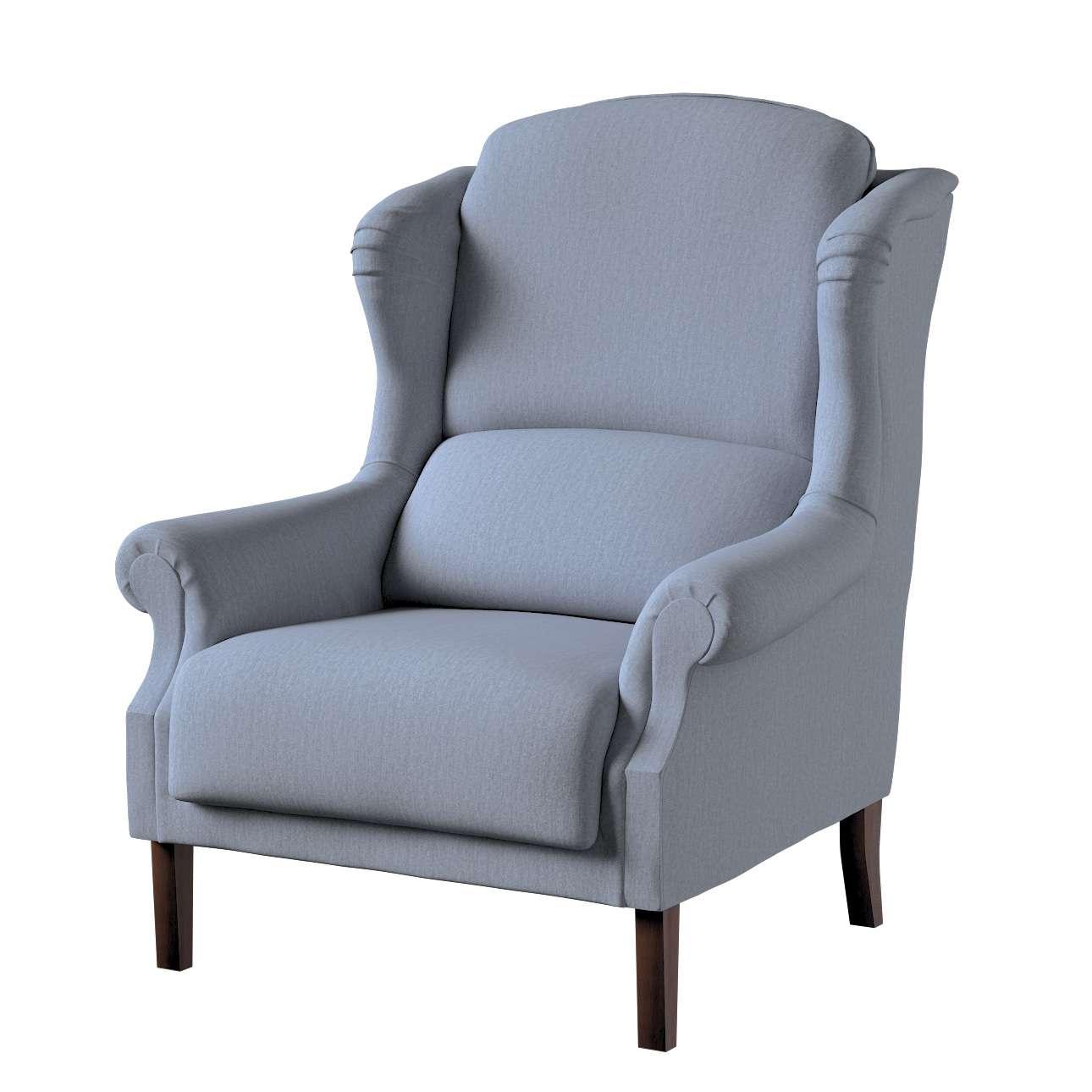 Sessel, silber- blau, 85 x 107 cm, Chenille