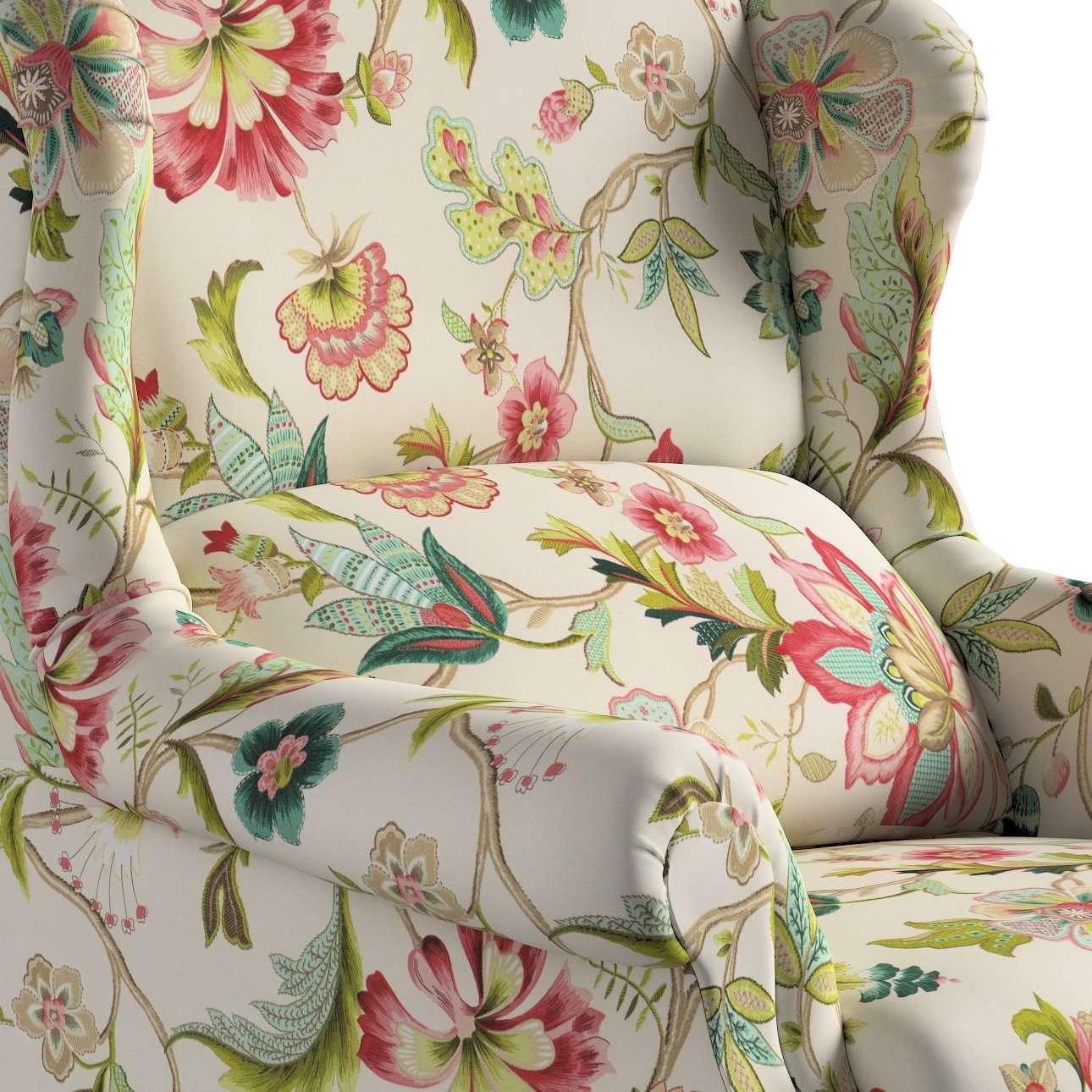 Kreslo čalúnené, ručne vyrábané V kolekcii Londres, tkanina: 122-00