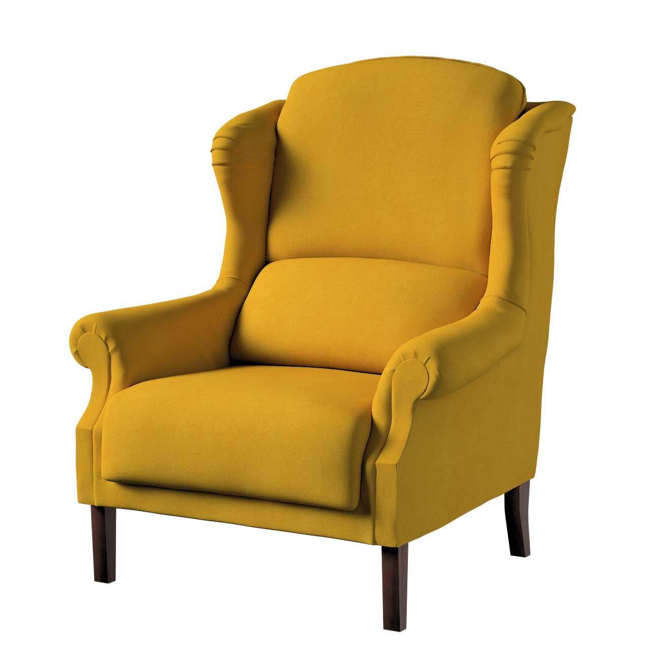 Sessel Unique, senffarbe, 85 × 107 cm, Etna
