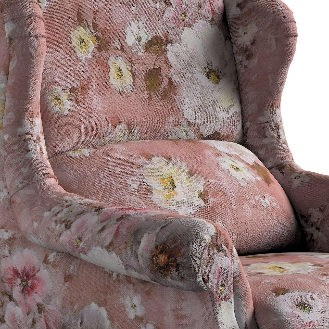 Kreslo čalúnené, ručne vyrábané V kolekcii Monet, tkanina: 137-83