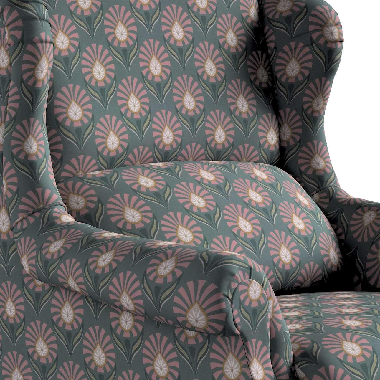 Křeslo Rest - čalouněné s volbou látky, ruční výroba v kolekci Gardenia, látka: 142-17