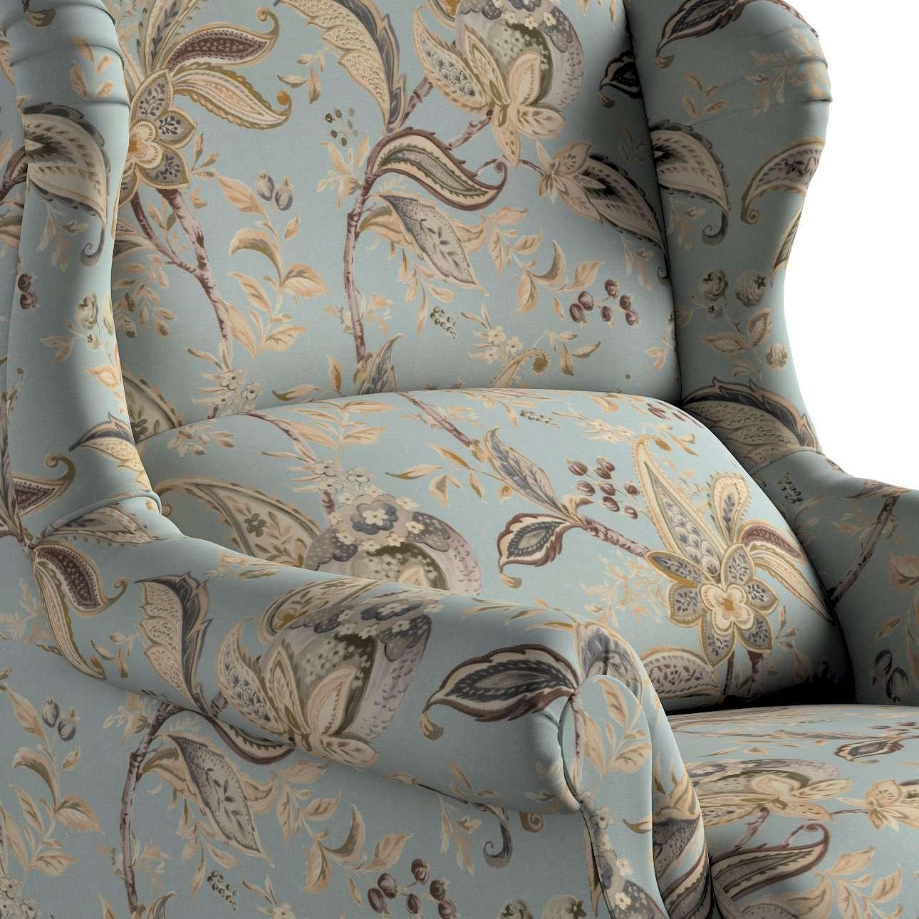 Kreslo čalúnené, ručne vyrábané V kolekcii Gardenia, tkanina: 142-18