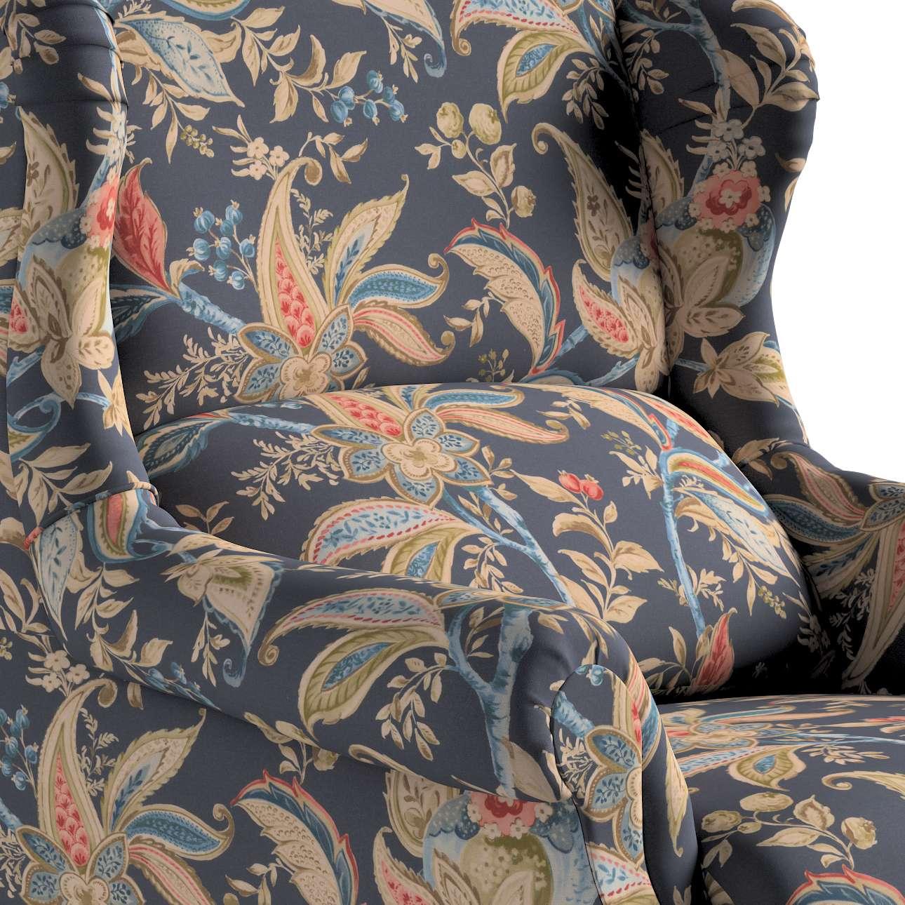 Kreslo čalúnené, ručne vyrábané V kolekcii Gardenia, tkanina: 142-19