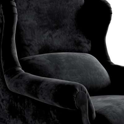 Fotel Willy 704-17 głęboka czerń Kolekcja Posh Velvet
