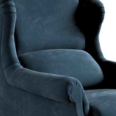Fotel Willy 704-16 pruski błękit Kolekcja Posh Velvet
