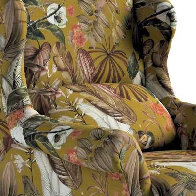 Kreslo čalúnené, ručne vyrábané V kolekcii Abigail, tkanina: 143-09