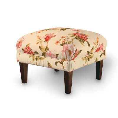 Dekoria fotelio pakojis-pufas 123-05 gėlės gelsvai kreminiame fone Kolekcija Londres