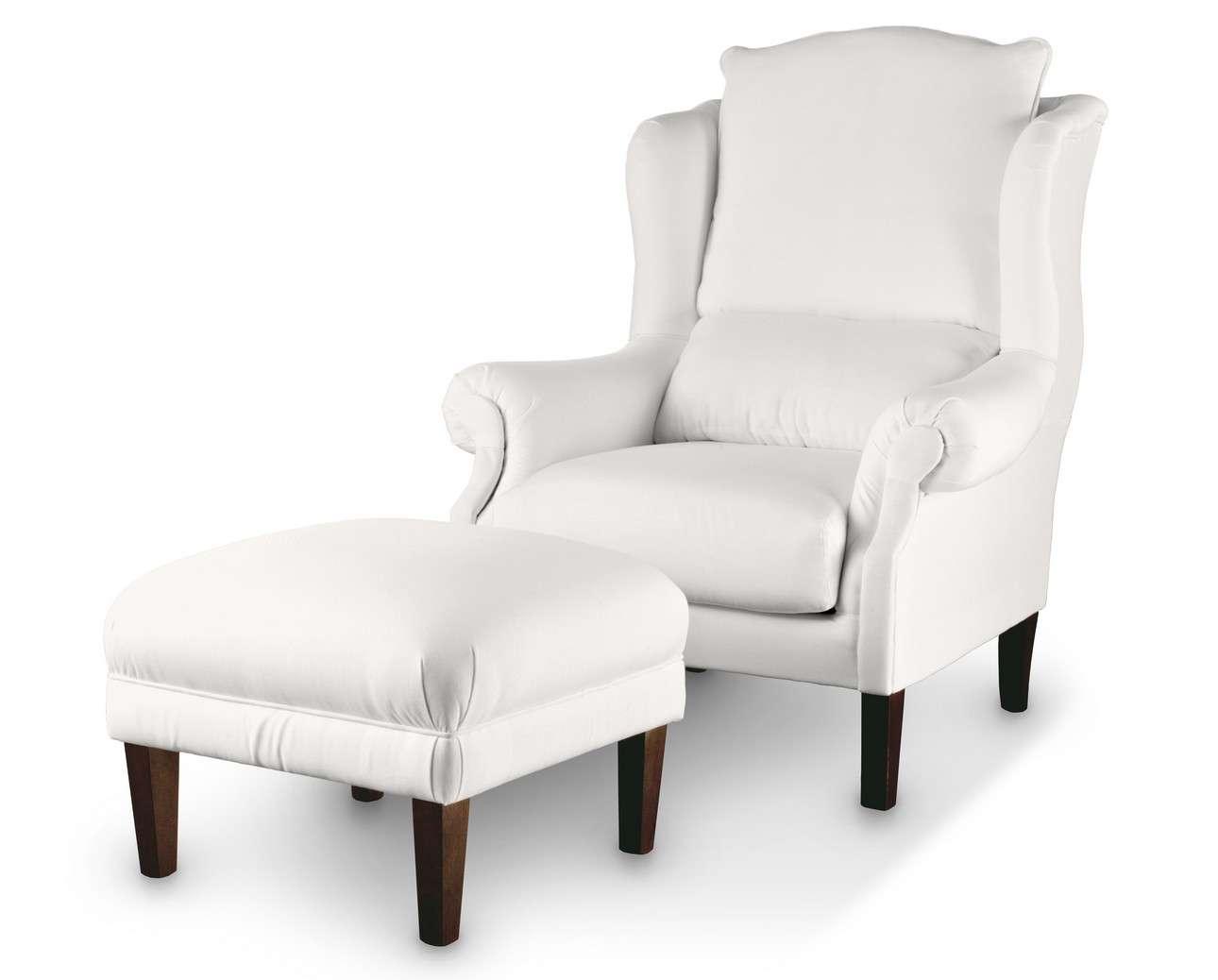 Podnóżek do fotela 56x56x40 cm w kolekcji Cotton Panama, tkanina: 702-34