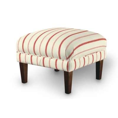 Dekoria fotelio pakojis-pufas 129-15 raudonos juostelės dramblio kaulo spalvos fone Kolekcija Avinon