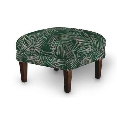 Podnóżek do fotela 704-21 zielony w liście Kolekcja Velvet