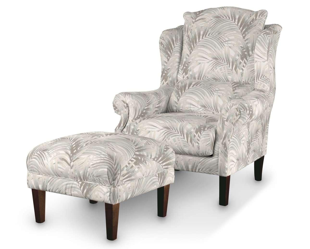 Podnóżek do fotela w kolekcji Gardenia, tkanina: 142-14