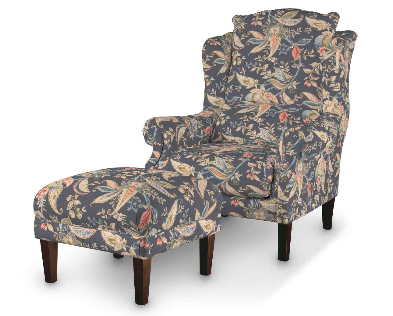 Podnóżek do fotela w kolekcji Gardenia, tkanina: 142-19
