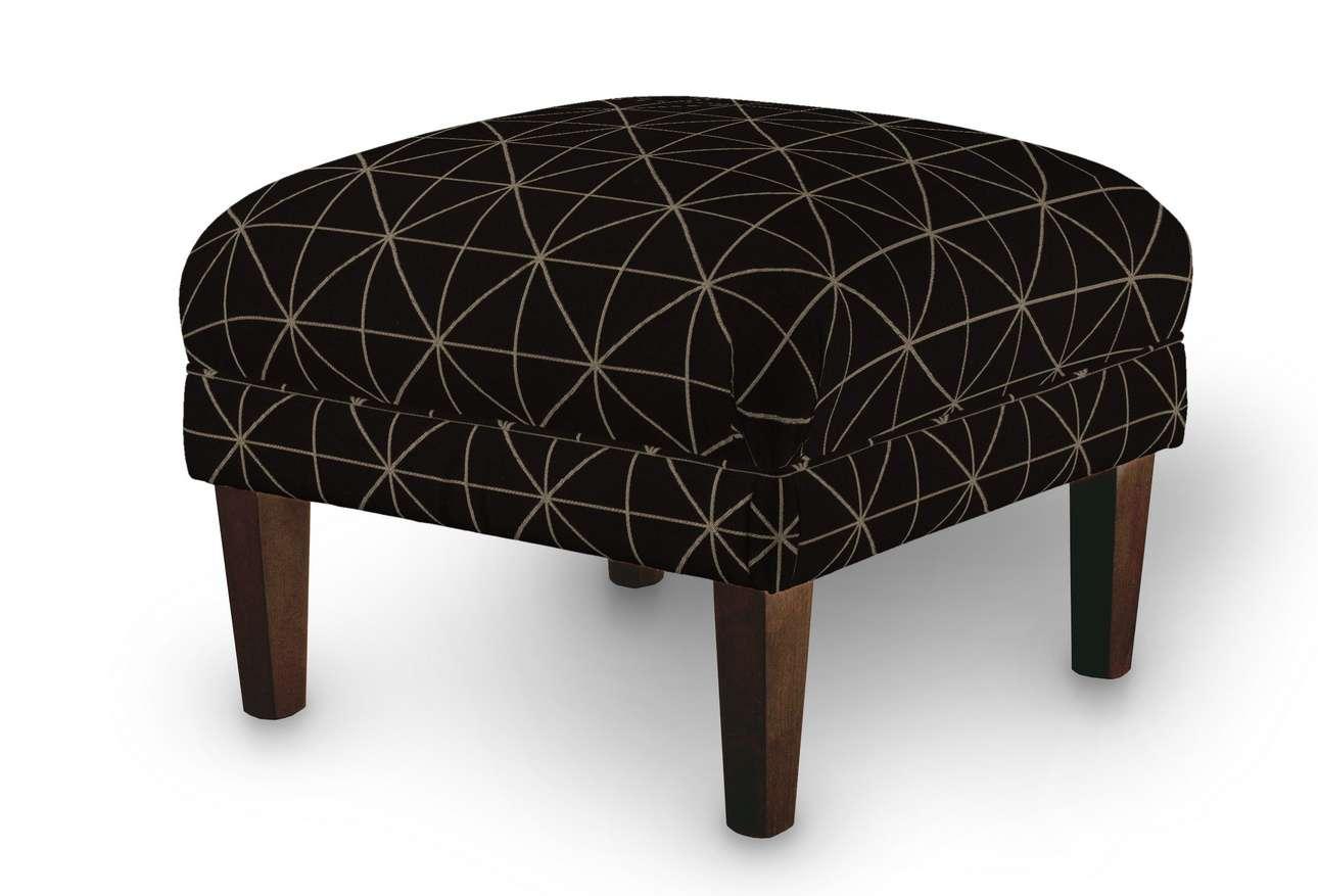 Podnóżek do fotela w kolekcji Black & White, tkanina: 142-55