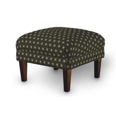 Podnóżek do fotela w kolekcji Black & White, tkanina: 142-56