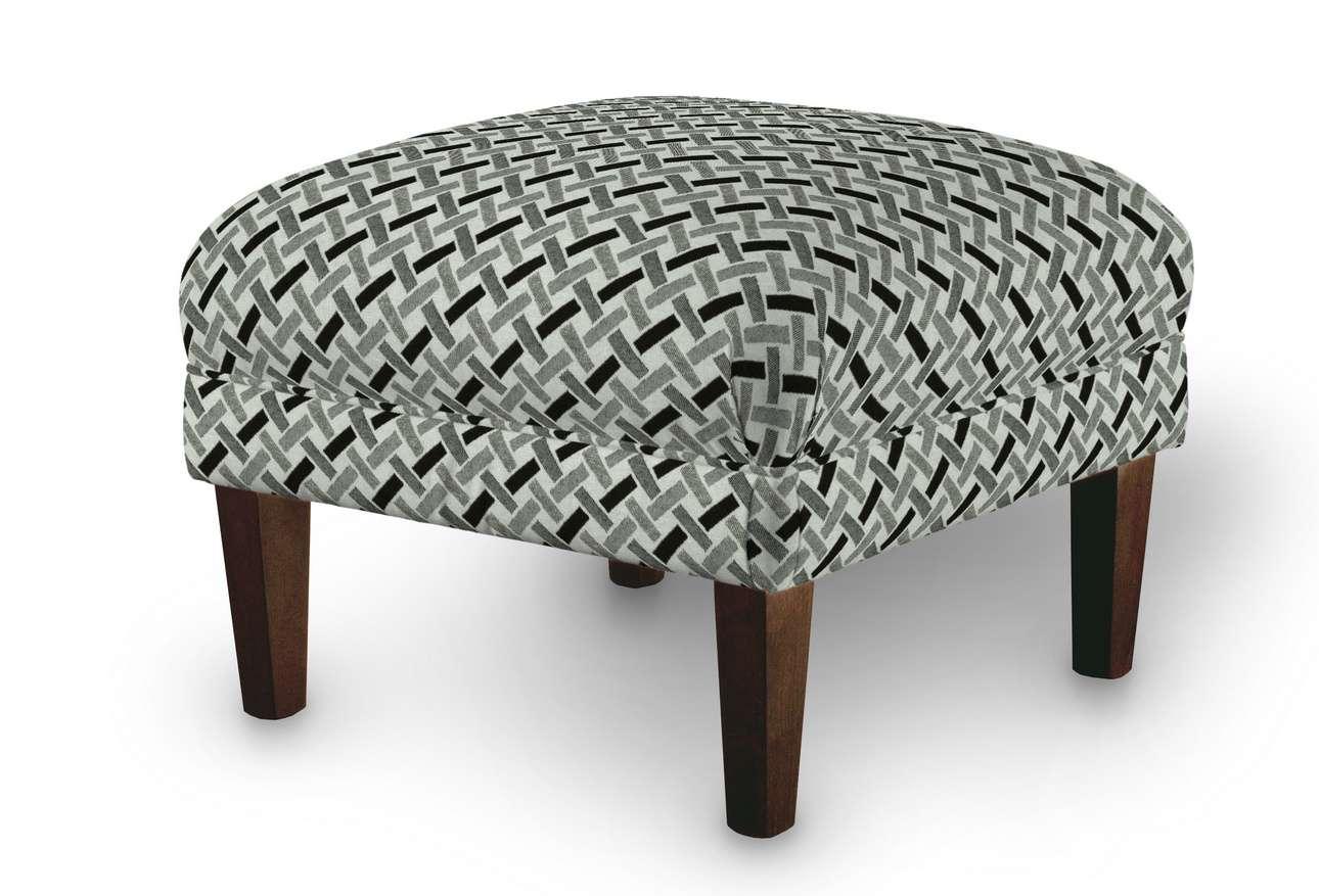 Podnóżek do fotela w kolekcji Black & White, tkanina: 142-78