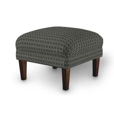 Podnóżek do fotela w kolekcji Black & White, tkanina: 142-86