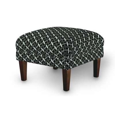 Podnóżek do fotela w kolekcji Black & White, tkanina: 142-87