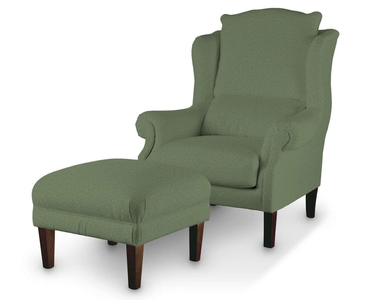 Podnóżek do fotela w kolekcji Amsterdam, tkanina: 704-44