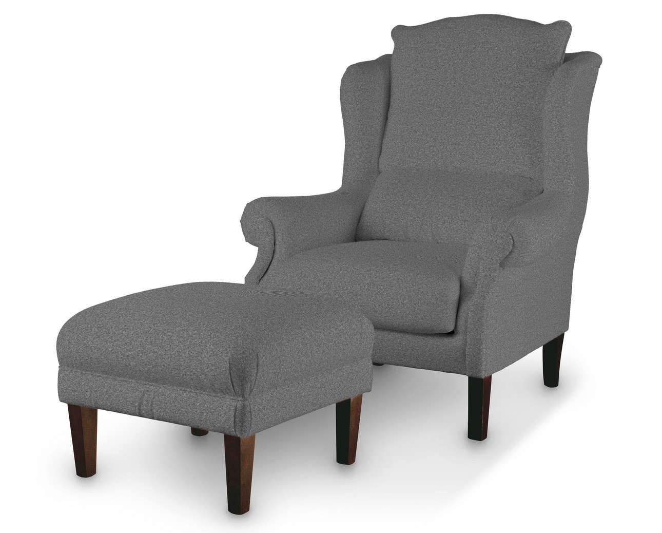 Podnóżek do fotela w kolekcji Amsterdam, tkanina: 704-47