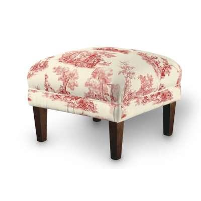 Dekoria fotelio pakojis-pufas 132-15 raudoni fragmentai dramblio kaulo spalvos fone Kolekcija Avinon