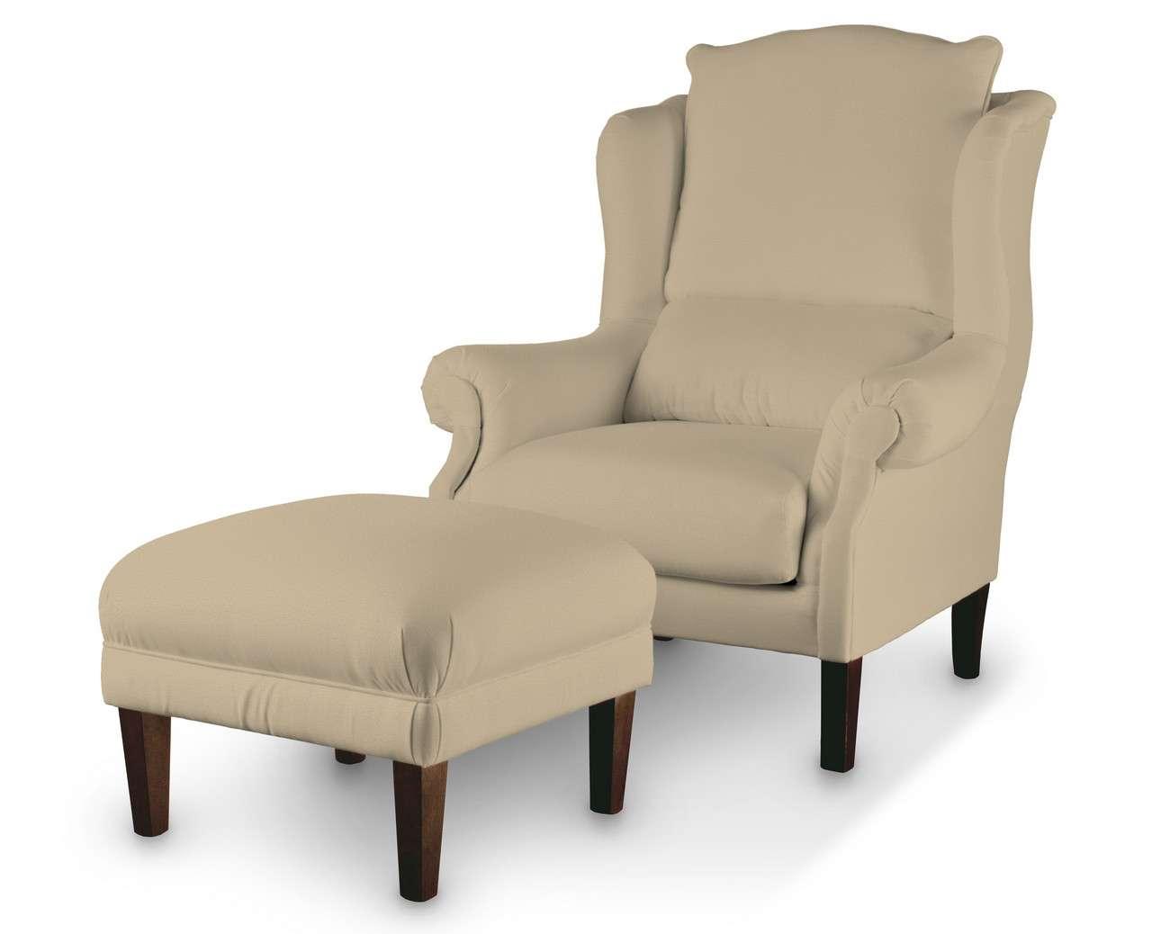 Podnóżek do fotela w kolekcji Living, tkanina: 160-82