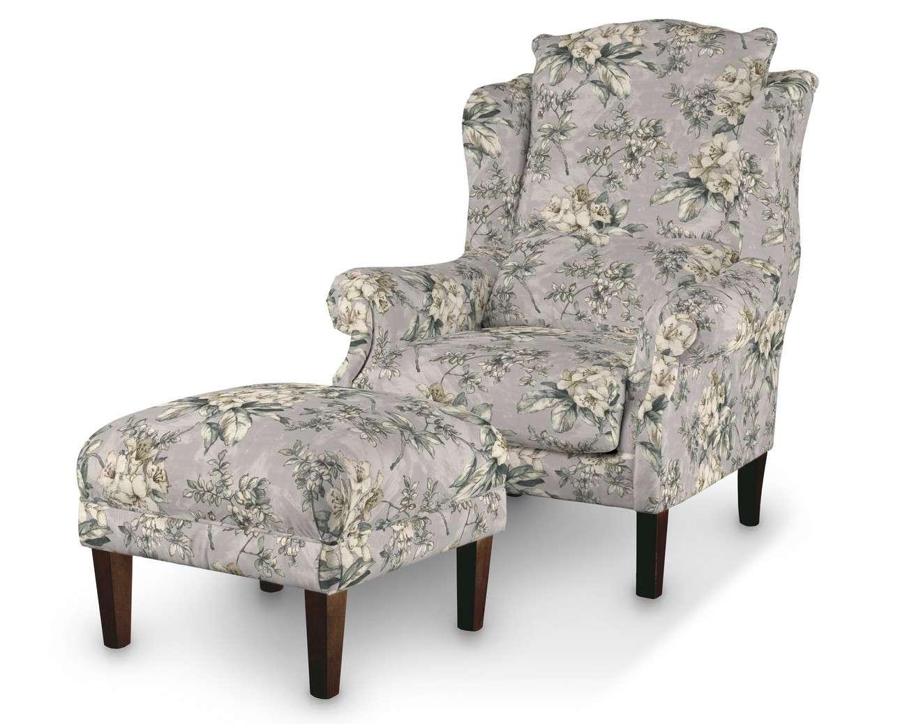Podnóżek do fotela w kolekcji Londres, tkanina: 143-36