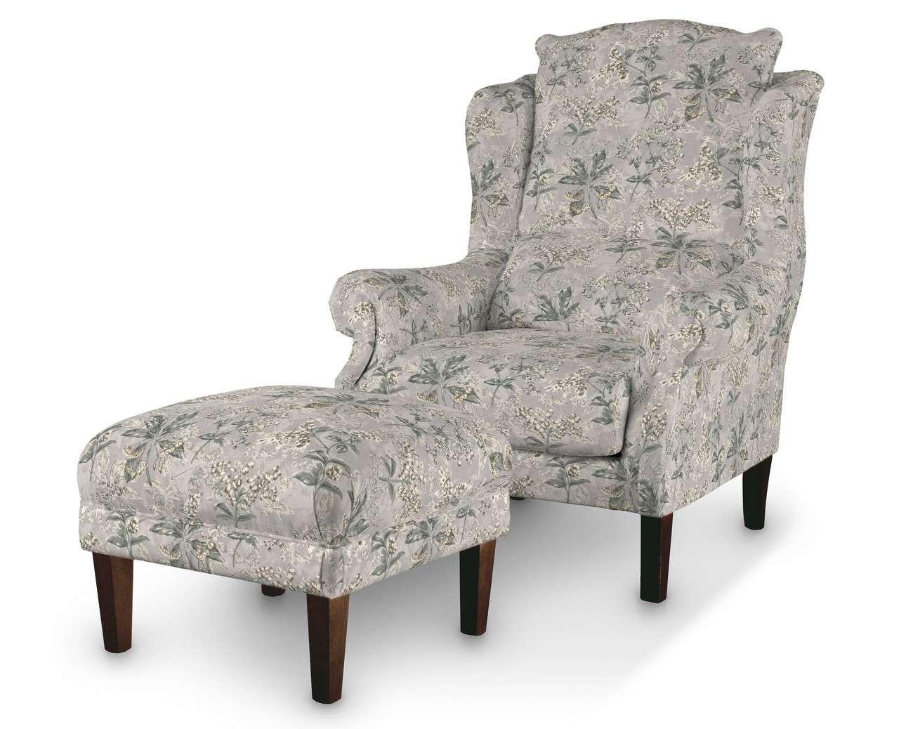 Podnóżek do fotela w kolekcji Londres, tkanina: 143-37