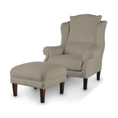 Podnóżek do fotela w kolekcji Londres, tkanina: 143-38